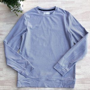 Outdoor Voices Micro Stripe Crew Sweatshirt